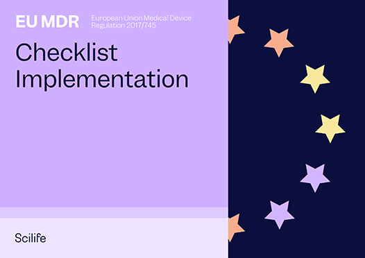 Cover page of Scilife's EU MDR checklist implementation