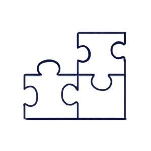 Hand drawn illustration of puzzle pieces to illustrate CAPAs module of Scilife's Platform