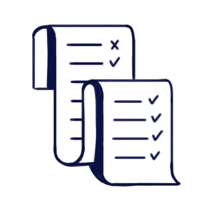 Hand drawn illustration of a large document to represent Scilife's Change Control Module