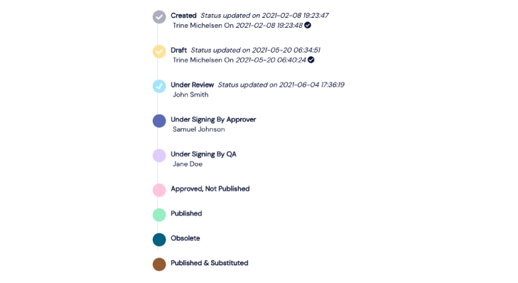 Screenshot of a Scilife's workflow