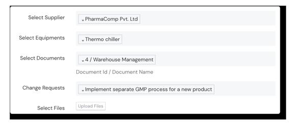 Screenshot of Equipment Configuration Panel on Scilife Platform