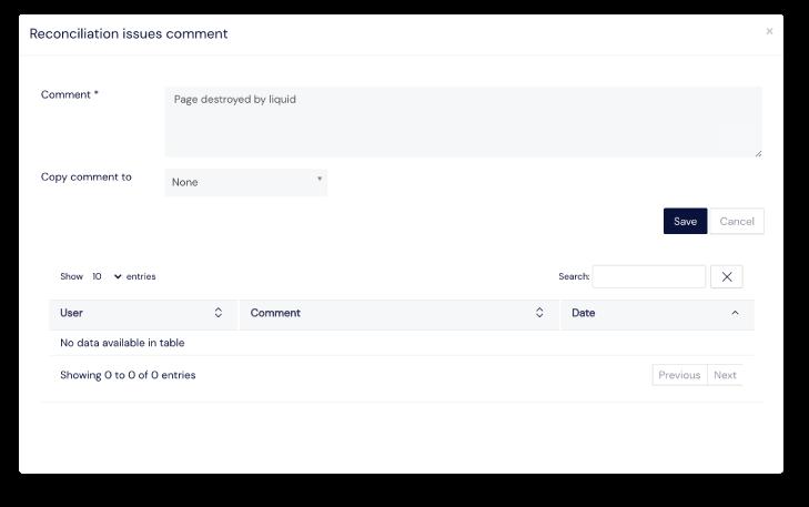 Screenshot of tracked printings panel on Scilife's Platform