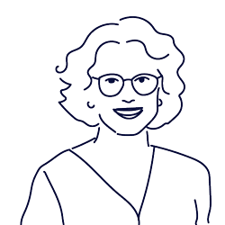 Hand drawn illustration of Núria Broo, Management Support at Scilife
