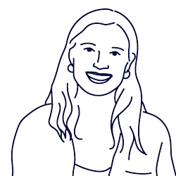 Hand drawn illustration of Trine Michelsen, Customer Success Manager at Scilife
